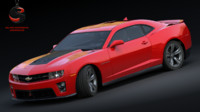 chevrolet camaro zl1 2012 3d model