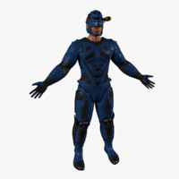 human electrician man 3d model