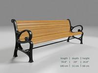 3d bench elements
