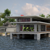 villa 03 lakeside v3 3d model