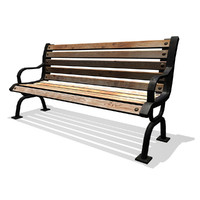3ds max classic park bench