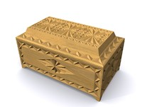 3d model carved caskets