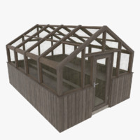 wood greenhouse 3d 3ds