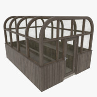 3d model wood greenhouse