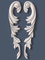 3d model decorative scroll