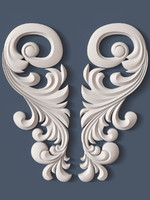 3d decorative scroll