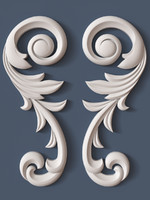 3d model decorative scroll
