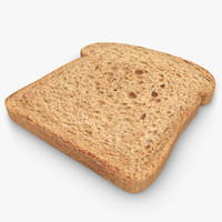 bread slice 02 3d 3ds