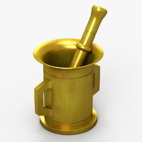 mortar pestle 3d max