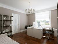 3d model home office interior