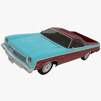 3d model chevrolet el camino 1973