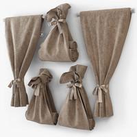 3dsmax towel bow cloth