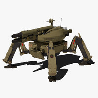 3d model spider tank