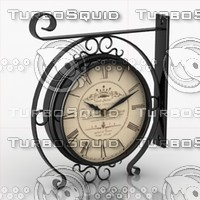 clock trainstation 3d max