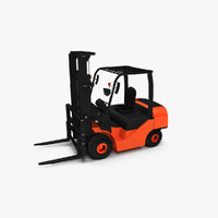 3d forklift lift fork model