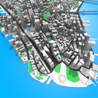 new york manhattan 3d c4d