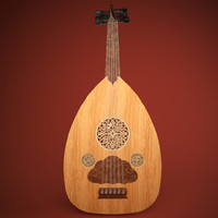 3d model oud arabic instrument