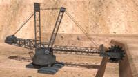 bagger excavator 3d obj