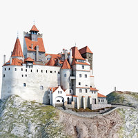 3d dracula castle bran model
