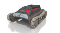 vehicle track 3d model