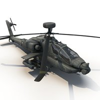 3d apache attack helicopter model
