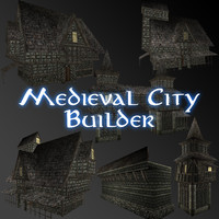 medieval city builder pack 3d 3ds