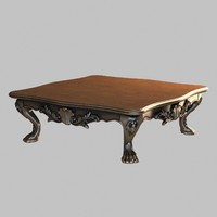 3ds max table decorated