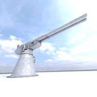 anti aircraft gun 3d max