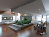 3d model open space scene