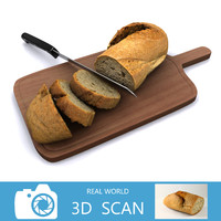 3d model - bread b slice