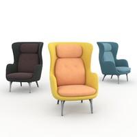 ro fritz hansen armchair 3d obj