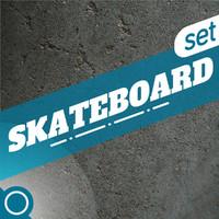 3d skateboard set model