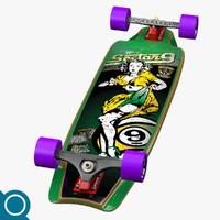 tiffany complete longboard 3d max