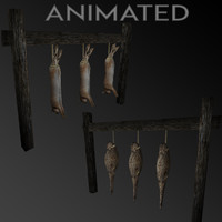 hanging animals 3d 3ds