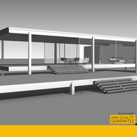 3d model farnsworth house