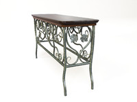 3d max wrought iron table