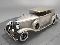 3d model duesenberg j 232 arlington
