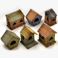 3d max house birdhouse bird
