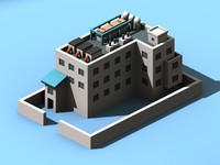 office factory building 3d model