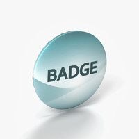 3d model of badge mock