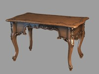 Photorealistic Writing desk Decorated