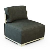 armchair bea porada 3d model