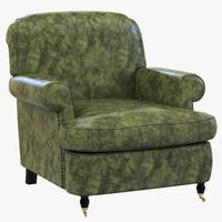 baxter charlotte armchair 3d 3ds