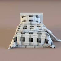 bed linen 3d model