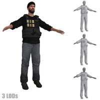 3d dea agent lods 2 model