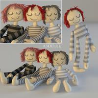 dolls textile 3d max