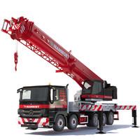 3d model mercedes mobile crane hk70