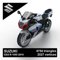 2014 suzuki gsx-r 1000 3d obj