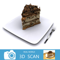3d scanned chocolate cake