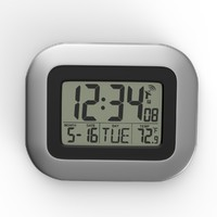 3d modern wall digital clock model